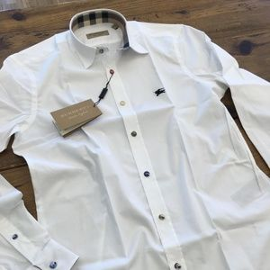 BURBERRY LONDON ENGLAND WHITE  CLASSIC SHIRT